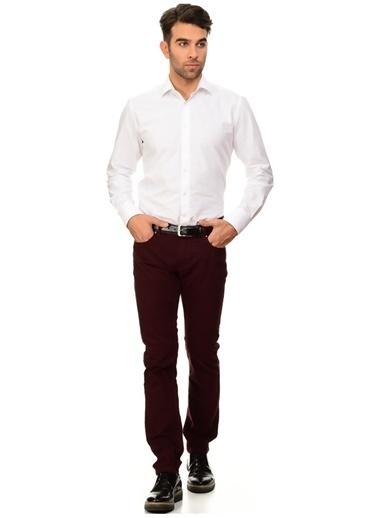 George Hogg George Hogg Şarap  Klasik Erkek Slim Fit Pantolon Bordo